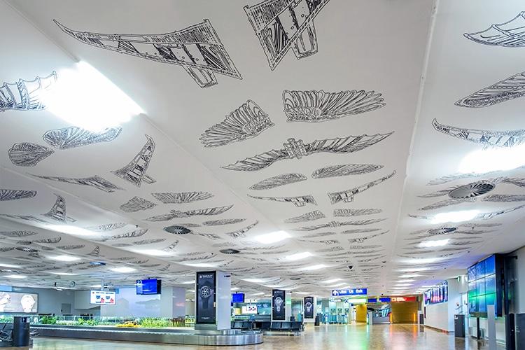 Plafond aéroport helsinki