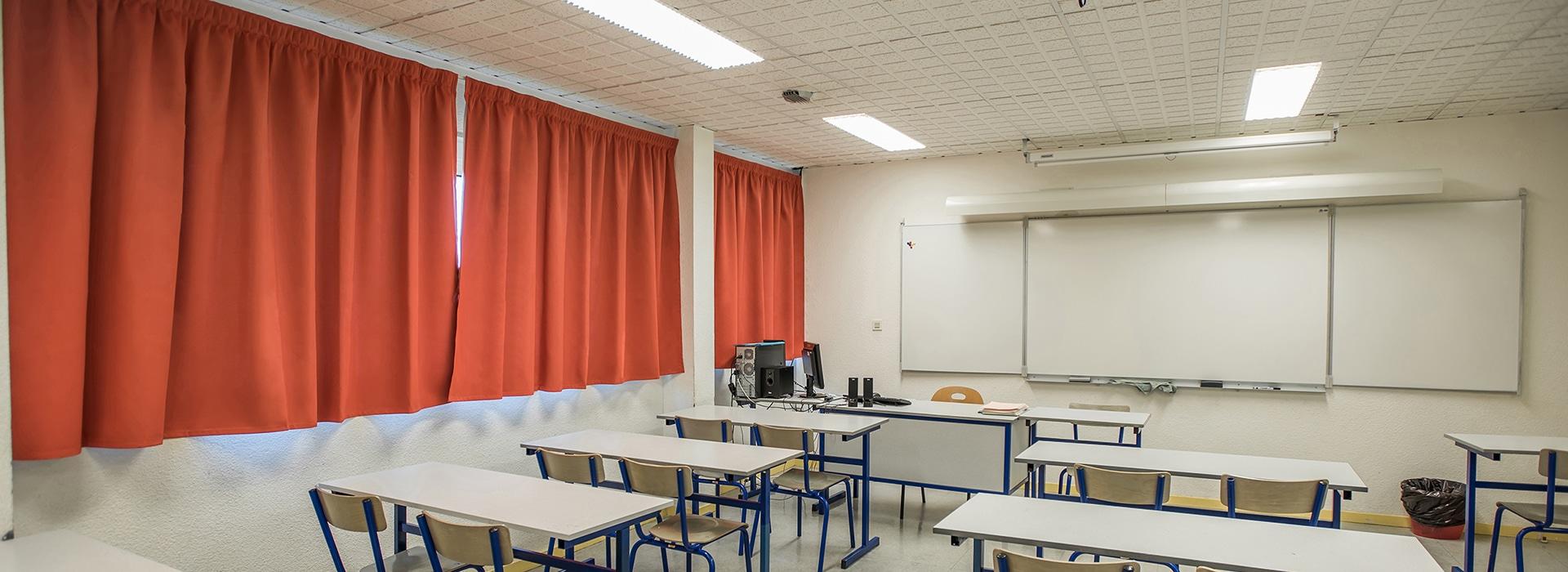 rideaux salle de classe