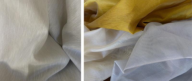 Découverte d'une gamme de tissus pour voilages